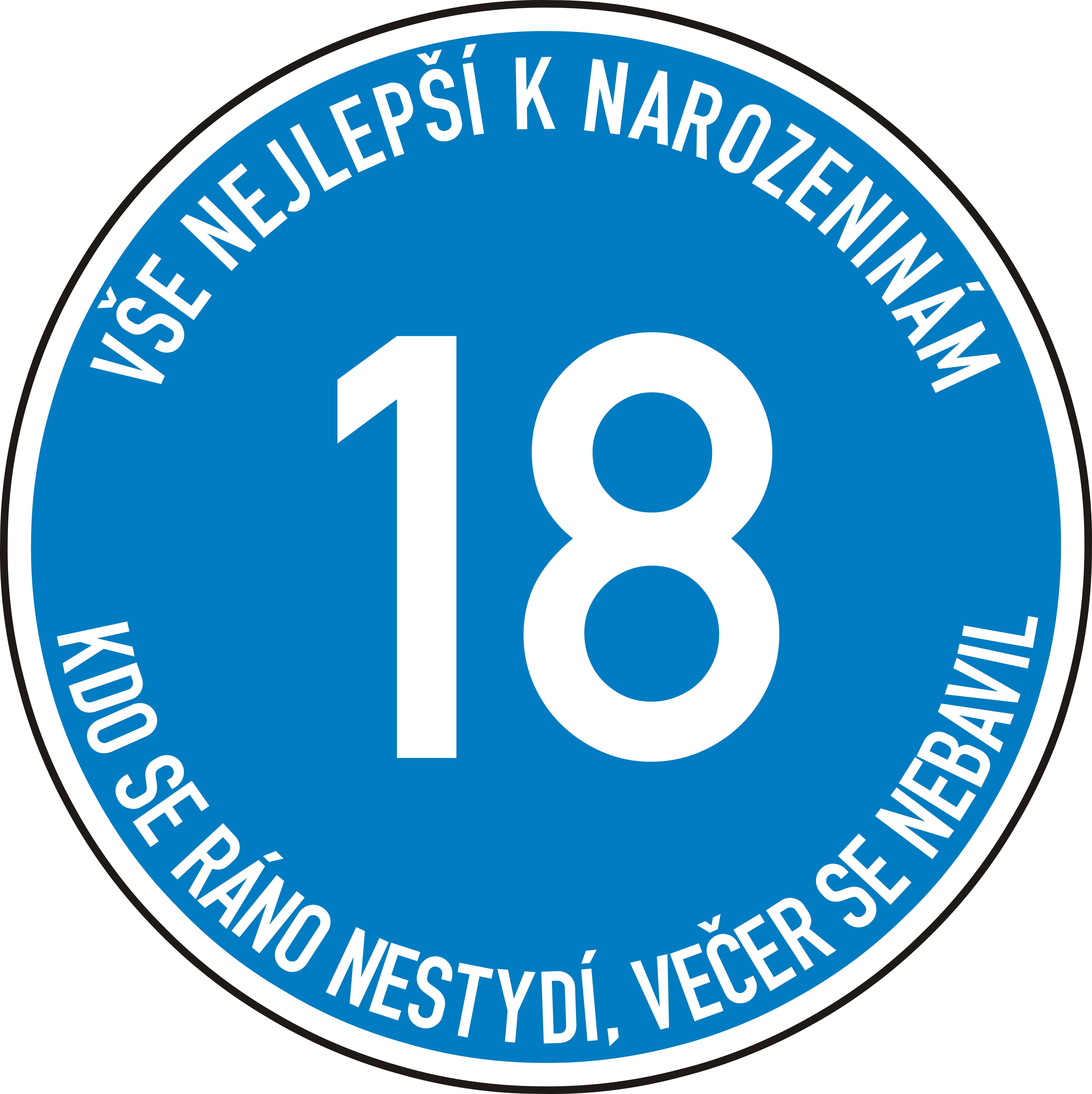 Narozeninová dopravní značka - Standard 2